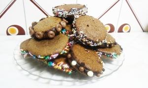 Whoopies de chocolate
